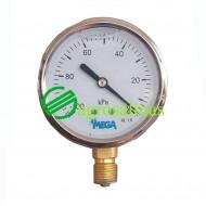 Βακόμετρο κενού INOX  ξηρού τύπου 100mm