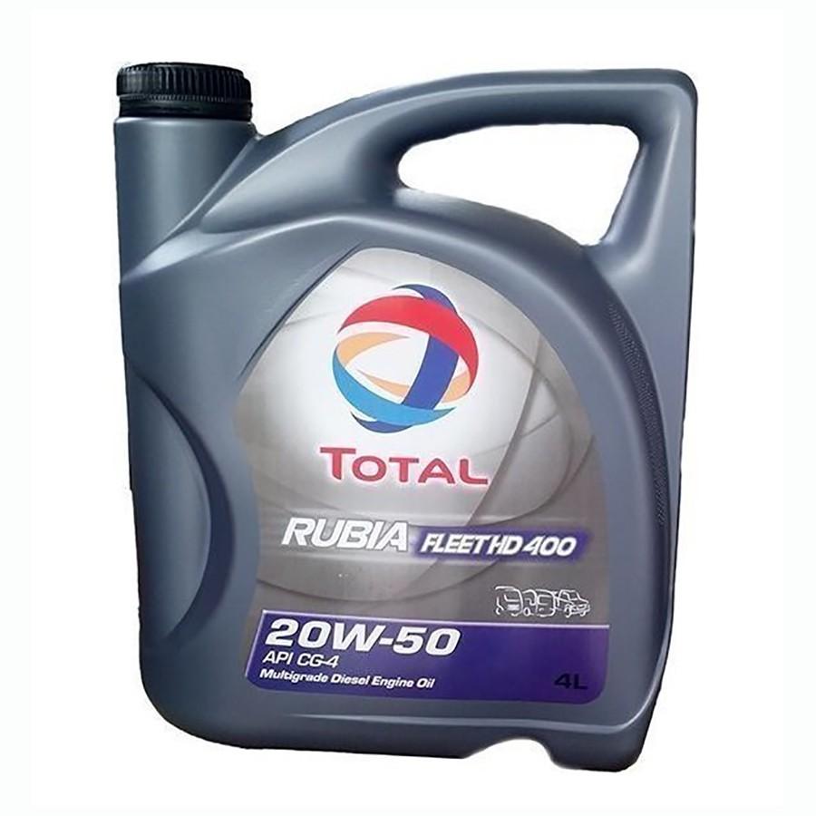TOTAL Rubia Fleet HD400 20W50 Δοχείο 4Λ